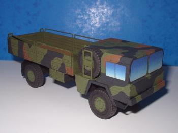 Papercraft imprimible y recortable del camión militar MAN 5t mil gl 4x4. Manualidades a Raudales.